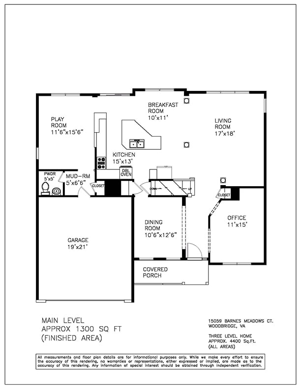 Floorplan - Northern Virginia Real Estate Photography
