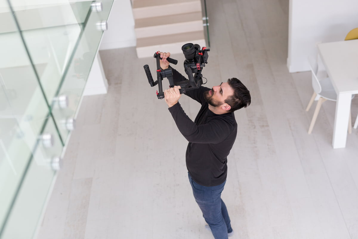 Real Estate Videographer at work